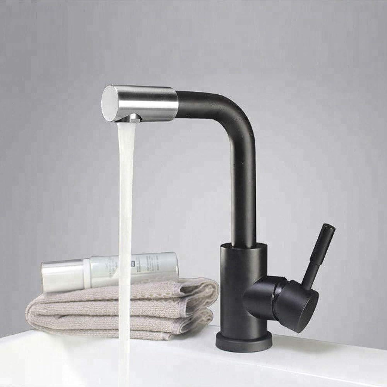 Bathroom Sink Tap Modern Black Basin Sink Mixer Tap Stainless Steel 360 redated Bathroom Sink Faucet