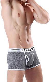 QIYUN.Z Mens Fashion Printed Breathable Ice Silk Boxer Briefs