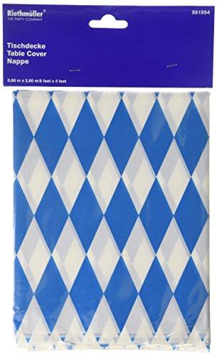 Amscan International 2,6m x 80cm Bayerische Tischdecke aus Kunststoff (Blau / Weiß)