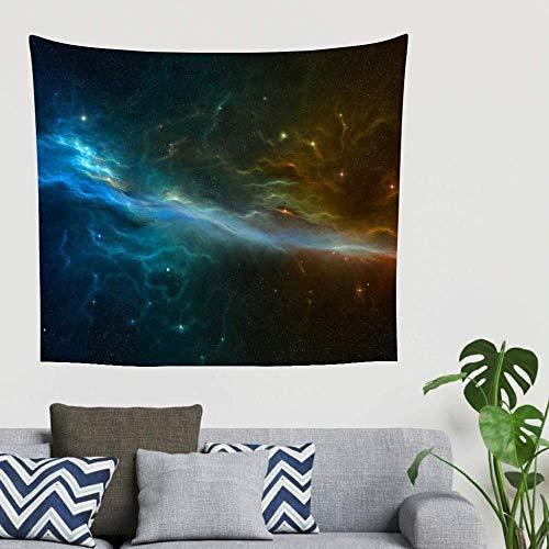 BOIPEEI Fantasy Stars Nebula Space Art Print Tapiz para Colgar en la Pared Manta de Pared Toallas de Playa étnicas Tela de Fondo para fotografía Blanco 150cm X 200 Cm