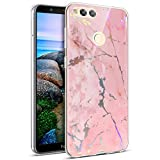 PHEZEN Huawei Honor 7X Case,Huawei Mate SE Case,Shiny Unique Marble Design Clear Bumper Slim TPU Soft Rubber Silicone Cover Anti-Scratch Thin Back Protective Phone Case for Huawei Honor 7X/ Mate SE,#3