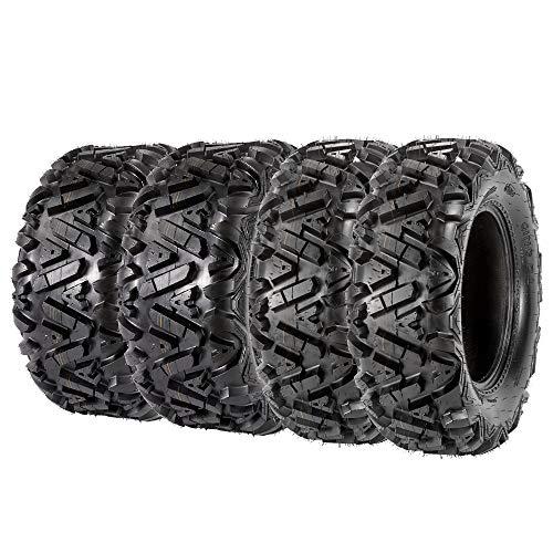 VANACC Set of 4 ATV UTV Tires 27x9-14 Front & 27x11-14 Rear 14 inch Mud Tire 27x9x14 27x11x14, 6PR Tubeless