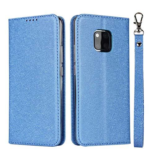 GIMTON Huawei Mate 20 Pro Hülle, Brieftasche Hülle mit Klapp Ständer und Magnet Verschluss für Huawei Mate 20 Pro, Stoßfest Kratzfestes PU Leder Schutzhülle, Blau