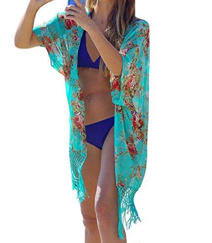 DELEY Mujeres Gasa Kaftan Cardigan Bikini Cover En Vestido De Playa Trajes De Baño