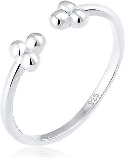 Elli 女式球形地理趋势 925 纯银可调节戒指