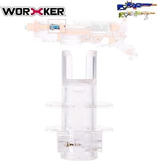 Goshfun Worker Universal Connector Adapter Toy Accessory Kit for NERF CS-6 LONGSTRIKE for NERF Modulus Longstrike, Transparent