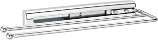 Rev A Shelf Bathroom Kitchen Under Cabinet Prong Pull Out Towel Bar, Chrome