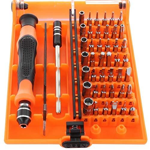 Preisvergleich Produktbild 45 in1 Profi Präzisions-Schraubendreher / Bit Set für Smartphone,  Tablet-PC etc. in Kunststoffbox