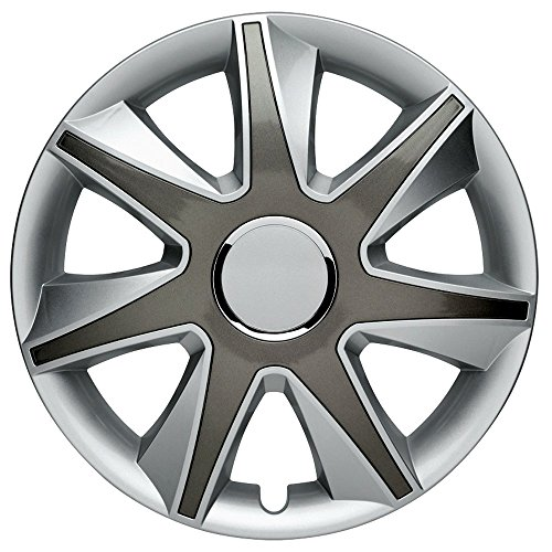 CM DESIGN Run 2 Silber Grau - 14 Zoll, passend für Fast alle Kia z.B. für Picanto