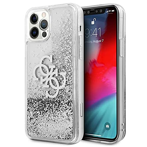 Guess GUHCP12LLG4GSI - Cover per iPhone 12 Pro Max 6,7', 4G, colore: Argento