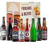 Caja de cervezas degustación - Pack degustación ESPAÑA: Santa Monica, Inedit, Cibeles Rubia, Maestra, La Virgen, Alhambra 1925, Rabiosa y La Sagra Premium I Selección para regalar y disfrutar.