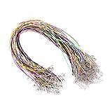 Kaimeng 1. 5 mm cable de cera cuerda trenzada de imitación de cuero con cierre para la fabricación de joyas 100 unids (color de la mezcla)