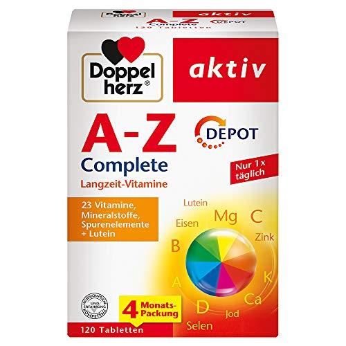 Doppelherz A-Z DEPOT – Mit wichtigen Vitaminen, Mineralstoffen und Spurenelementen plus Lutein – 120 Tabletten