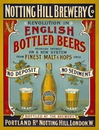 Kilburn Notting Hill Brewery Company English Bottled S Ales IPA EPA Hops Ley Retro Kreative Wanddekoration Persönlichkeit Trend Hintergrund Einfache Stil Eisen Gemälde