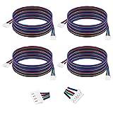 4 Piezas Cable de Motor Paso a Paso para Impresora 3D Cable de Motor Bipolar Cables de Motor Paso a Paso Cable de Motor de Impresora 3D XH2.54 Para Impresoras 3D Máquinas CNC
