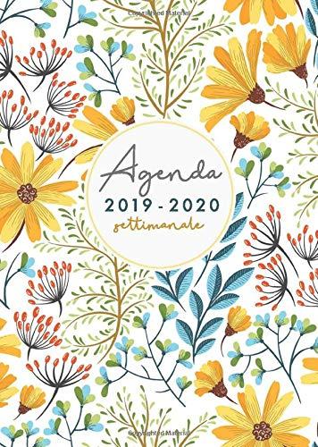 Agenda 2019 2020 settimanale: agenda 2019 2020 A5 | settembre 2019 - dicembre 2020 | Agenda 16 mesi giornaleria small 2019/2020 | disegno floreale