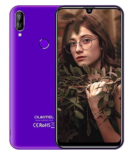 Offerta Cellulare,OUKITEL C16 Pro Smartphone Economici Android 9.0 4G dual SIM,Con 5,7 pollici 3GB RAM+32 ROM,Fotocamera da 8 MP+2 MP/5 MP,Face Unlock/impronta digitale-Nero (porpora)