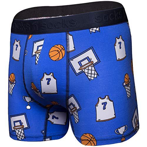 Image of Blue Basketball Boxer Briefs for Men