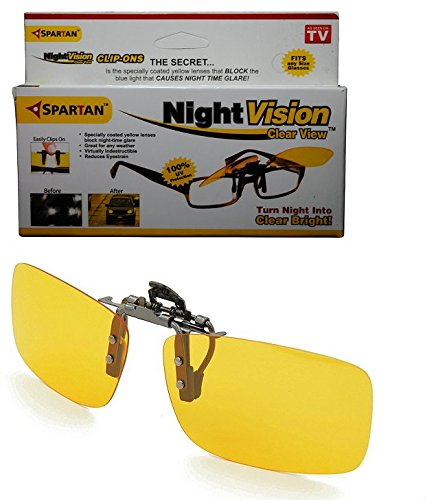 Spartan Night Vision unisex Clip On Goggles for driving || Unisex Night vision Glasses|| Clip on Glasses