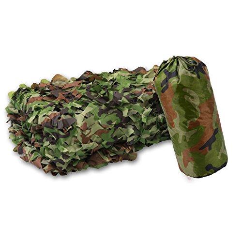 XLORDX 3x4m 3x5m 3x6m Camouflage Netz Tarnnetz Camonet Woodland Tarnung Camo Für Waldlandschaft, flammenhemmend Jagd Armee Outdoor weiß grün