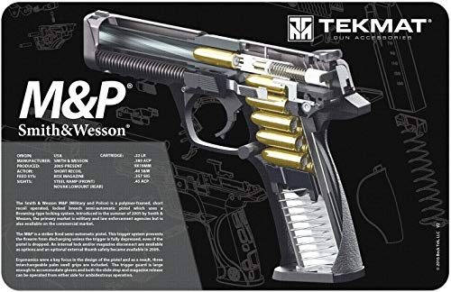 TekMat Double-Sided Mat for use with S&W M&P, Black (TEK-17-SW-MP-CA-DBL)