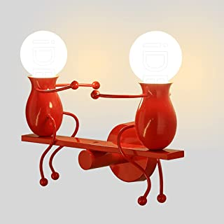 iDEGU 2 Lampes Applique Murale Interieur Lampe Murale Moderne Design Créative Bascule Humanoïde Lampe de Mur Art Déco Écla...