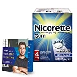 Nicorette Nicotine Gum to Stop Smoking, With Quit Support System, White Ice Mint, 2mg, 12 weeks Quit Smoking Aid, 160 count