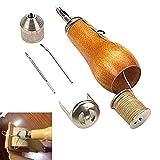 EuBaiFeng - Máquina de coser manual de cuero, herramienta de lienzo de piel cosida a mano, lienzo profesional de costura rápida, herramienta de reparación de puntadas de mano