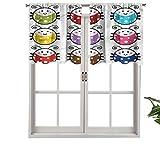 Hiiiman Juego de 2 cortinas opacas con bolsillo para barra, 106,7 x 60,9 cm