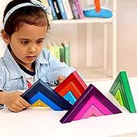 Lewo di Legno Arcobaleno Gioco impilabile Geometria Costruzioni Creativo annidamento Giocattoli educativi Bambini Piccoli #2