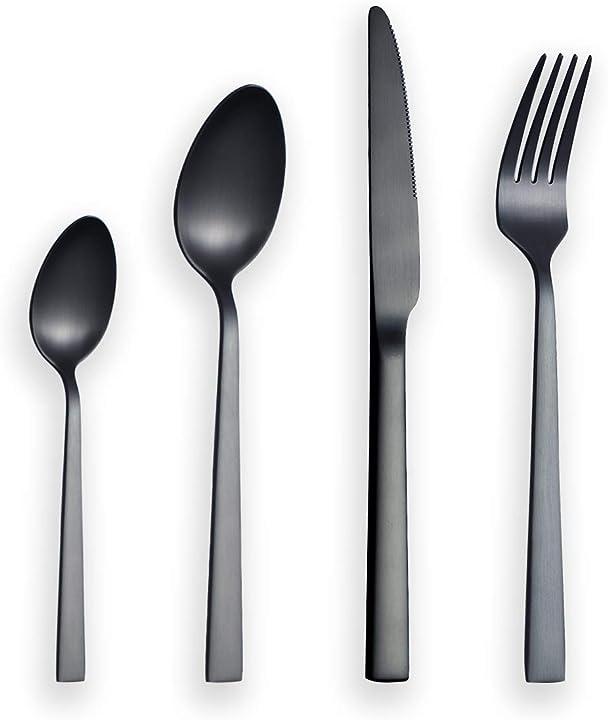 24 pezzi posate in titanio nero berglander CS88WSB24