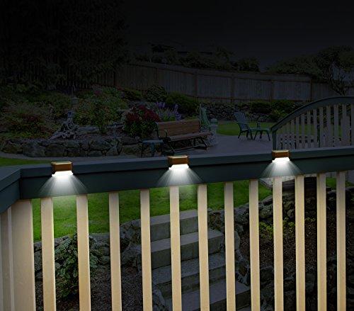 Ideaworks JB7816 Powered S/3 Solar Deck Lights, Small, Brown