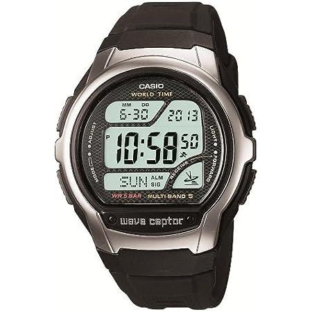 [カシオ] 腕時計 ウェーブセプター 電波時計 WV-58J-1AJF メンズ ブラック