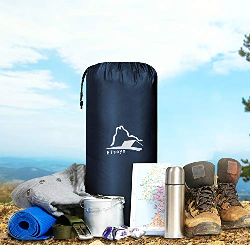 EJsoyo Camping Sleeping Pad, Ultralight 19.4 OZ,New Upgrade Camping Sleeping Pad with Built-in Inflator,Great for Backpacking (Blue)