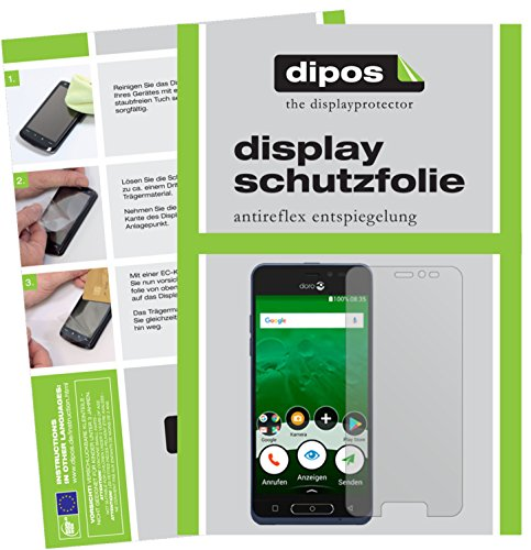 dipos I 2X Schutzfolie matt kompatibel mit Doro 8035 Folie Bildschirmschutzfolie
