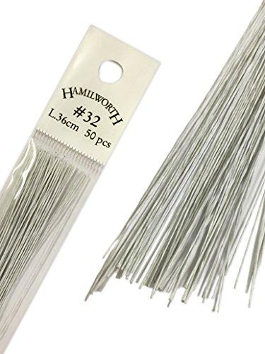 Hamilworth - Fils de fer pour compositions florales, loisirs créatifs et fleurs de sucre, blanc, n°32
