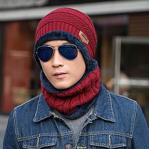 StAuoPK Heren- en Vrouwenherfst en Winterwolhoeden, kostuumpak oorbeschermers en fluwelen warme trui gebreide hoed