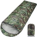 [HAWK GEAR(ホークギア)] 丸洗いできる寝袋 マミー型 シュラフ -15度耐寒 簡易防水 オールシーズン (迷彩(軽量タイプ))