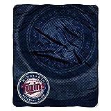 NORTHWEST MLB Minnesota Twins Raschel Throw Blanket, 50' x 60', Retro