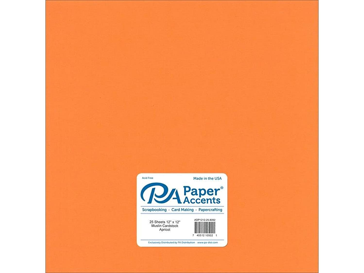 Paper Accents Cardstock 73 lb Apricot Muslin 12