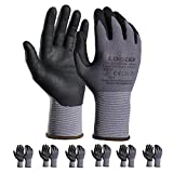 Safety Work Gloves MicroFoam Nitrile Coated-6 Pairs,Seamless Knit Nylon Gloves,Gray Work gloves,Home Improvement,outdoor working 10/XL
