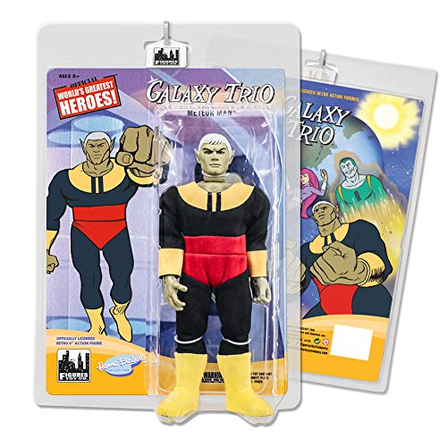 Figures Toy Company Birdman & The Galaxy Trio 8 Inch Retro Action Figures Series: Meteor Man