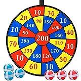 E-More Giochi per Freccette, Sicurezza Tiro al Bersaglio Bambini per Interni ed Esterni Freccette Bambini con 8 Palline Tessuto Gioco Freccette Bambini per Regalo per Bambini, 71cm/28inches