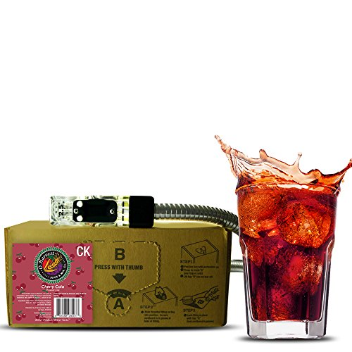 Bar Beverages Mountain Black Cherry Cola (3 Gallon Bag-in-Box Syrup Concentrate) - Box Pours 18 Gallons of Cherry Cola - Use with Bar Gun, Soda Fountain or SodaStream