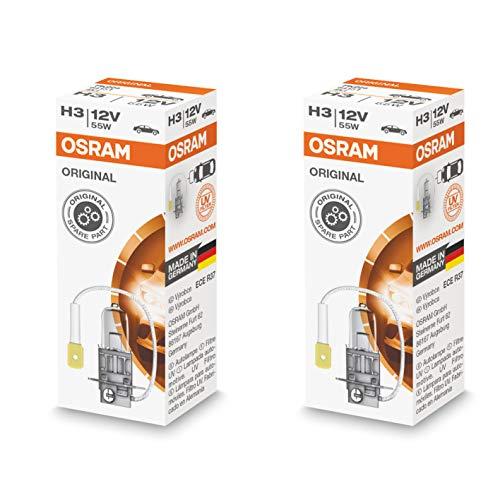 2x Halogenlampen H3 PK22s 12V 55W OSRAM 64151 453 Original