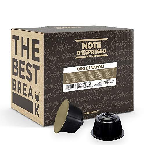 Note D'Espresso, Oro di Napoli, Capsule Caffè, Capsule Compatibili Soltanto con sistema NESCAFE* DOLCE GUSTO*, 48 caps