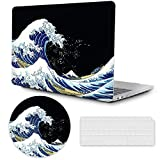 MacBook Air 13 inch Case 2020 2019 2018 Release A2337 M1 A2179 A1932, Plastic Hard Shell Case with Keyboard Cover, MacBook Air Accessories Laptop Cover MacBook Air 2020 Case,Surfing