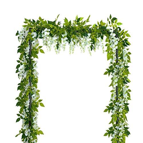 PEPENE Guirnalda de flores artificiales de 10,7 x 17,7 m, guirnalda de mimbre colgante con hojas de hiedra artificiales para el hogar, al aire libre, jardín, ceremonia, boda, decoración floral