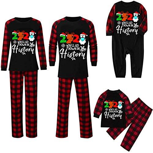 Pijamas de Navidad Familia Conjunto Pantalon y Top Pijamas...