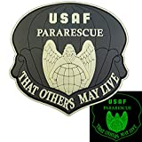 2AFTER1 That Others May Live USAF Pararescue Glow Dark GITD PJ PVC 3D Fastener Patch